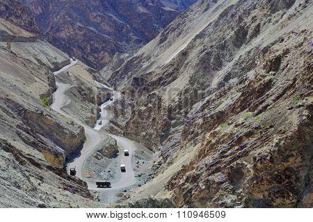High-altitude road in the Himalayas - Ladakh, Jammu & Kasmir, India