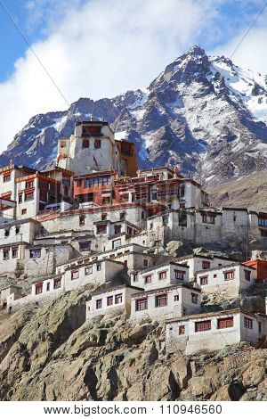 Diskit gompa - Buddhist monastery in the Nubra Valley of Ladakh, Jammu & Kashmir