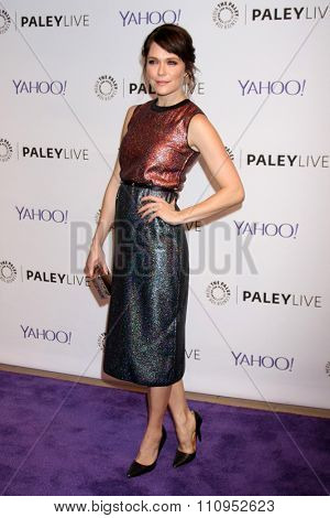 LOS ANGELES - DEC 8:  Katie Aselton at the PaleyLive LA -  The League - A Fond Farwell at the Paley Center For Media on December 8, 2015 in Beverly Hills, CA