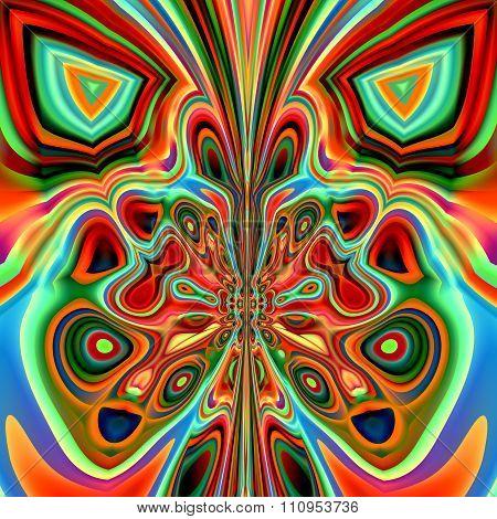 Abstract modern design. Ornate freak shape. Made in full frame. Curvy weird images.
