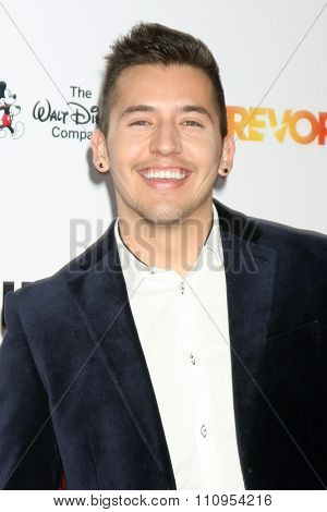 LOS ANGELES - DEC 6:  Aaron Encinas at the TrevorLIVE Gala at the Hollywood Palladium on December 6, 2015 in Los Angeles, CA