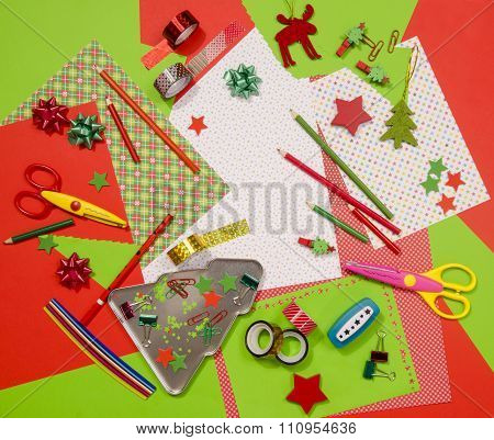 Arts And Craft Supplies For Christmas.