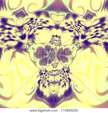 Bright psychedelic skull fractal. Weird curvy pic. Insane mad splat. Unreal magic style.