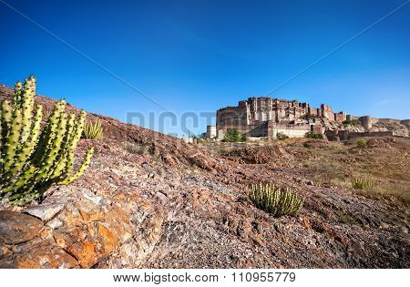Mehrangarh Fort In Desert Of India