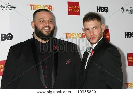 LOS ANGELES - DEC 6:  Daniel Franzese, Joseph Phillips at the TrevorLIVE Gala at the Hollywood Palladium on December 6, 2015 in Los Angeles, CA