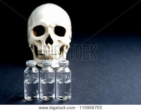 Skull And Medical Vials