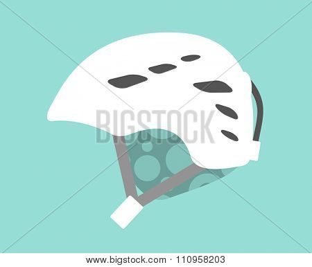 Snowboard sport clothes helmet element. Snowboarding helmet isolated on background. Snowboard vector helmet, snowboard helmet, snowboard safety tool. Snowboard winter sport equipment. Snow board