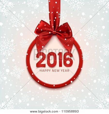 Happy New Year 2016 round banner.