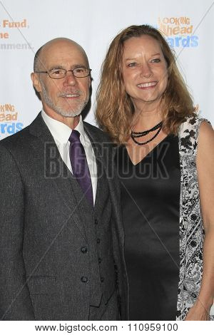 LOS ANGELES - DEC 3:  Barry Livingston, Karen Huntsman at the  Looking Ahead Awards at the Taglyan Complex on December 3, 2015 in Los Angeles, CA