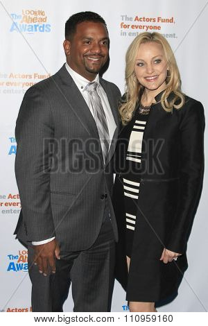 LOS ANGELES - DEC 3:  Alfonso Ribeiro, Angela Unkrich at the The Actors Fund�¢??s Looking Ahead Awards at the Taglyan Complex on December 3, 2015 in Los Angeles, CA