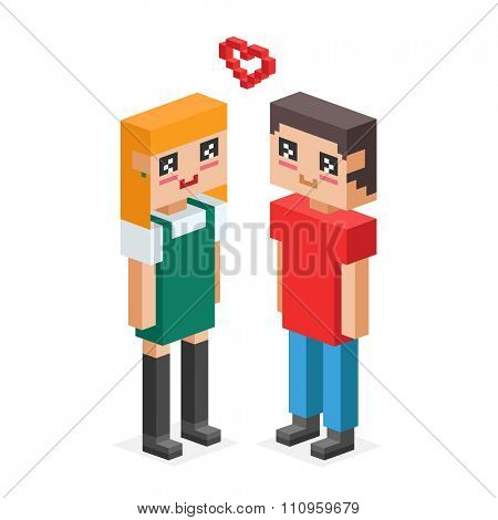 3d isometric family couples love wedding. Love people 3d icons. Flirting, love, first date, wedding and parenting. Family together concept. People wedding, valentine day. Wedding couple