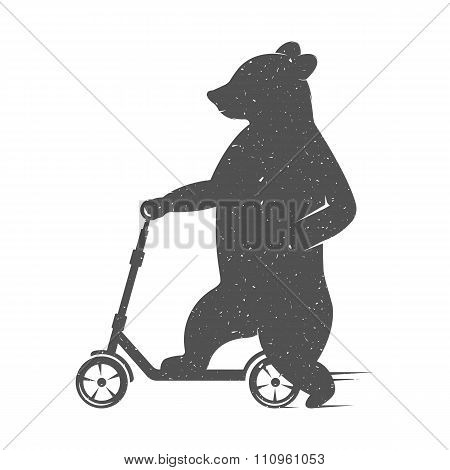 Vector Illustration Funny Bear
