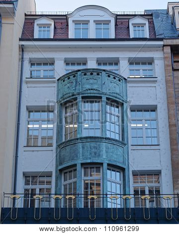 office building facade Leipzig Germany