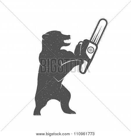 Vector Illustration Funny Bear