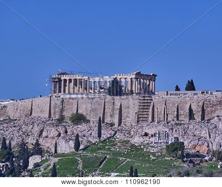 Athens Greece Parthenon temple on Acropolis