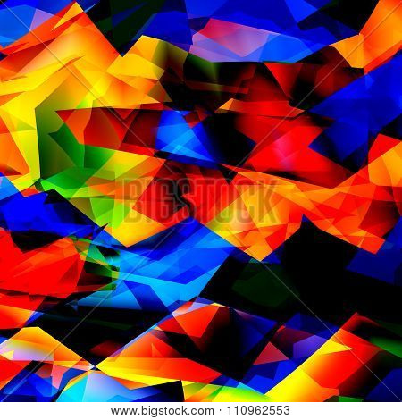 Colorful geometric background texture or pattern. Glass mosaic art. Cheerful multi color pic.