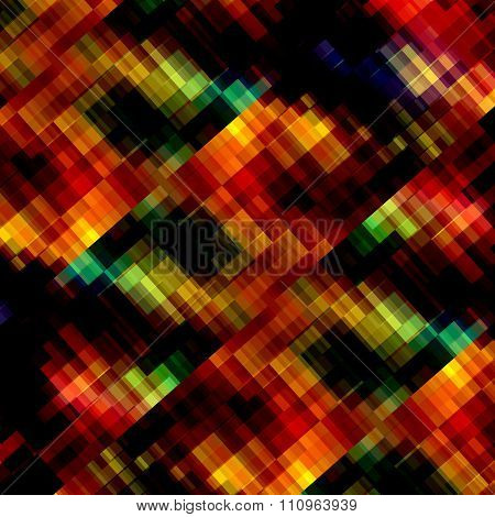 Abstract colorful background texture. Full frame render. Odd artsy ornament. Weird pixel graphic.