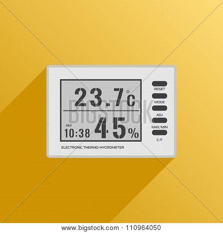 Digital Thermometer Hygrometer Icon