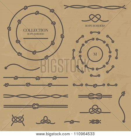 Collection Of Rope Knots.