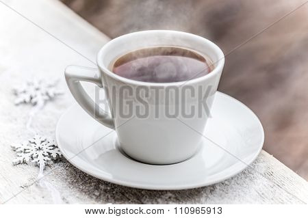 Hot Tea In The Cup