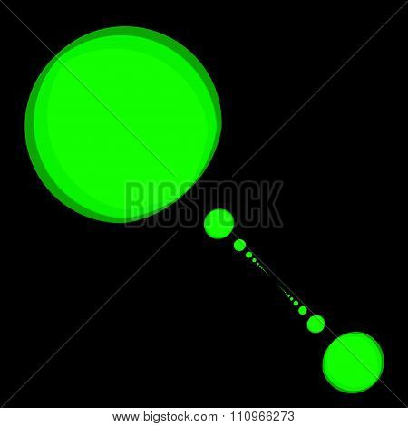 Green psychedelic blobs. Modern stylish deco. Alien planet system. Physics related pic.