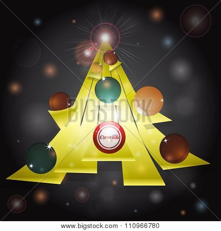 Christmas Tree Abstract Glowing Background