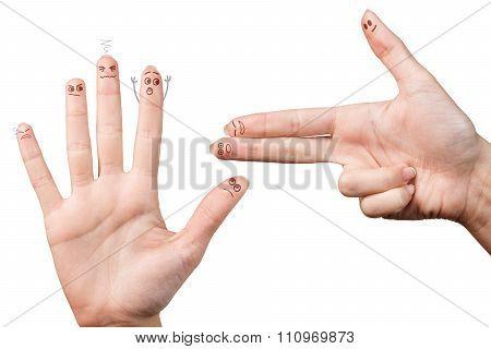 One gun hand taking hostages