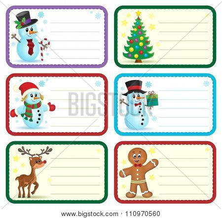 Christmas name tags collection 1 - eps10 vector illustration.
