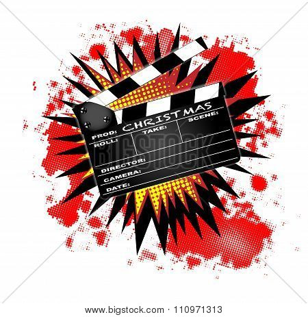 Christmas Clapperboard
