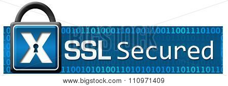 SSL Secured Lock Binary Horizontal
