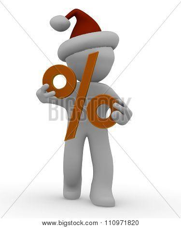 Christmas Discount Concept