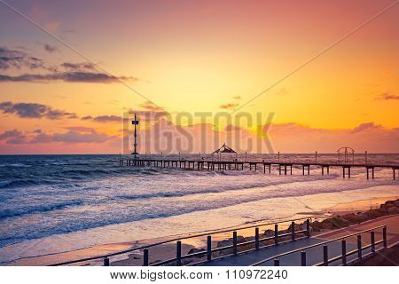 Brighton Jetty At Sunset
