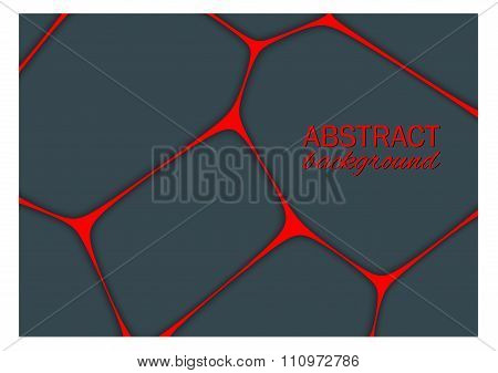 Volumetric Geometrical Dark Background With Outline Extrude Effect.  Abstract 3D Vector Background