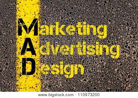 Advertising Business Acronym Mad Marketing, Advertising, And Design