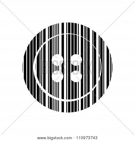 Vector Icons Sewing Buttons With Barcode