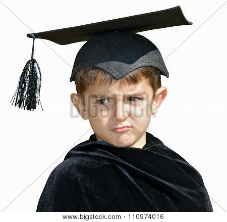 Kid Graduate With Graduation Cap