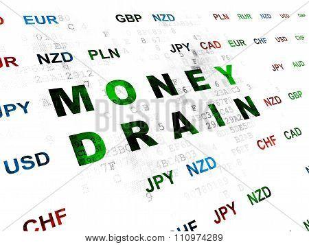Banking concept: Money Drain on Digital background
