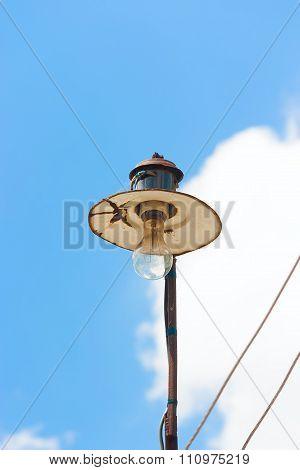 Rusty Street Lamp