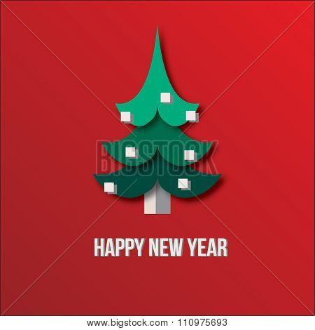 Happy Tree Snowflakes