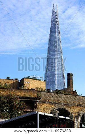The Shard And Old Brick Bridge, London, UK