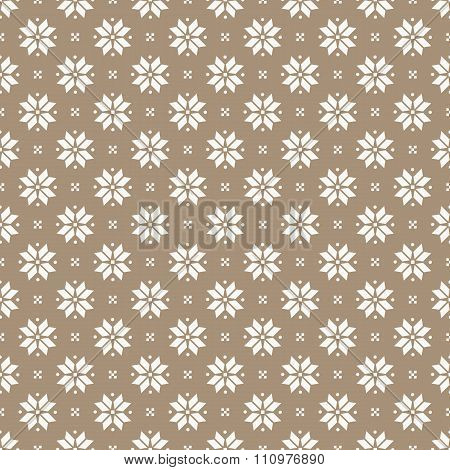 Norwegian Seamless Pattern. Vector Background.