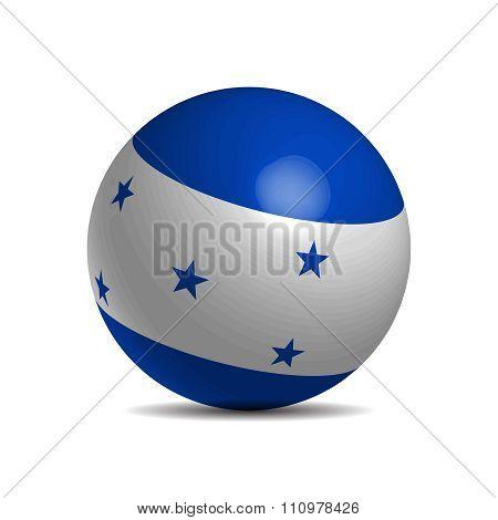 Honduras flag on a 3d ball