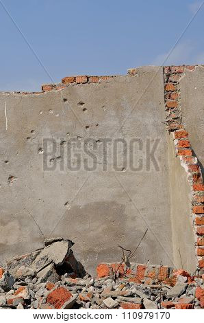 Wall With Bullet-holes