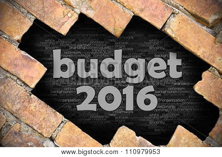 Hole In The Brick Wall With Word Budget 2016