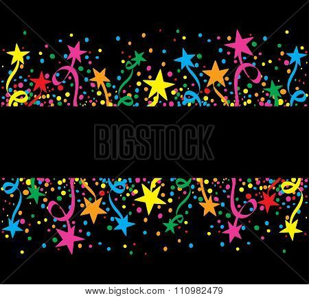 Big colorful Background stars at night