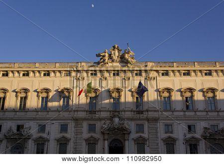 Palazzo Della Consulta Frontal Facade