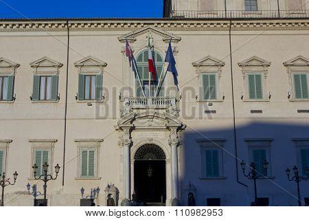 Quirinal Palace Frontal Facade