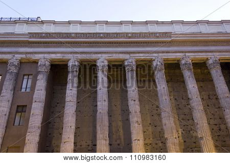 Hadrian Temple Colonnade In Rome