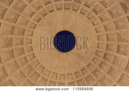 Oculos On The Top Of Pantheon In Rome