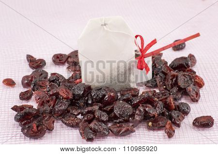 Dried Cranberry Fruit And Cranberry Tea Bag